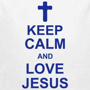 keep_calm_and_love_jesus_g1 Pullover & Hoodies - Baby Bio-Langarm-Body