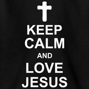 keep_calm_and_love_jesus_g1 Skjorter - T-skjorte for barn