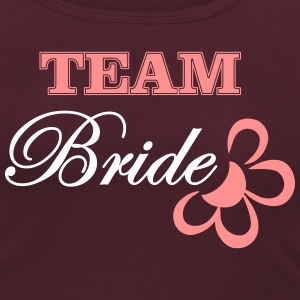 bride TEAM with flower T-Shirts - Frauen T-Shirt mit U-Ausschnitt