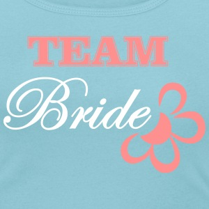 bride TEAM with flower T-Shirts - Women's Scoop Neck T-Shirt