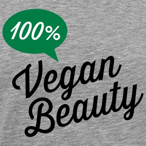 100% Vegan Beauty T-shirts - Premium-T-shirt herr