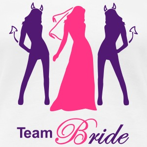 team bride devil angel Tee shirts - T-shirt Premium Femme