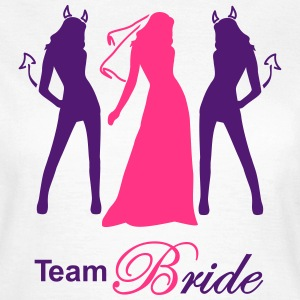 team bride devil angel Tee shirts - T-shirt Femme