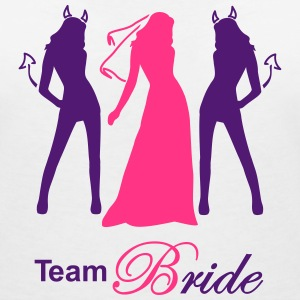 team bride devil angel T-shirts - Vrouwen T-shirt met V-hals