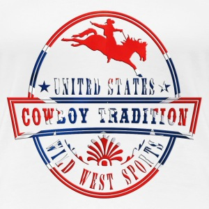 usa_rodeo_horse_062014_a T-Shirts - Frauen Premium T-Shirt
