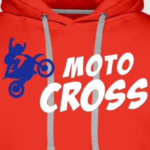 MOTO CROSS Bada_2c Sweat-shirts - Sweat-shirt à capuche Premium pour hommes