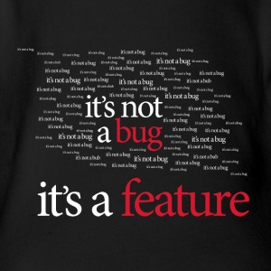 It's not a bug. It's a feature! Baby - Økologisk kortermet baby-body