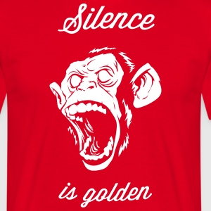 Silence is golden, Monkey, Chief, howler monkey T-Shirts - Men's T-Shirt