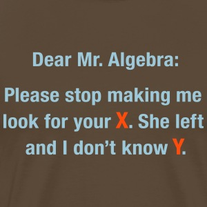Dear Mr. Algebra T-Shirts - Men's Premium T-Shirt