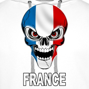 Skull France Sweat-shirts - Sweat-shirt à capuche Premium pour hommes