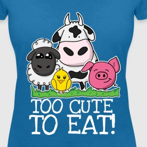 Too cute to eat V-Shirt - Frauen T-Shirt mit V-Ausschnitt