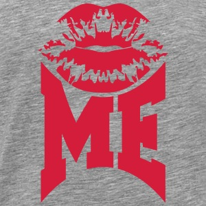 Kiss Me Logo Design T-Shirts - Men's Premium T-Shirt