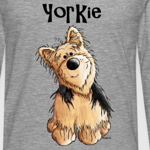 Sweet Yorkshire Terrier Long sleeve shirts - Men's Premium Longsleeve Shirt