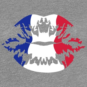 France flag football fan kiss T-Shirts - Women's Premium T-Shirt
