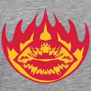 Fire flames burn hot kissing T-Shirts - Men's Premium T-Shirt