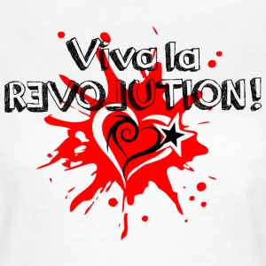 Viva la REVOLUTION, LOVE, Star, Heart, Splash,  T-shirts - Dame-T-shirt