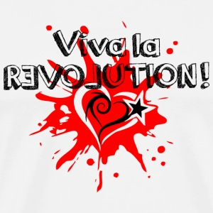 Viva la REVOLUTION, LOVE, Star, Heart, Splash,  T-Shirts - Men's Premium T-Shirt
