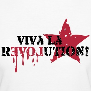 Viva la REVOLUTION, LOVE, Star, Anarchy, Punk T-skjorter - Økologisk T-skjorte for kvinner