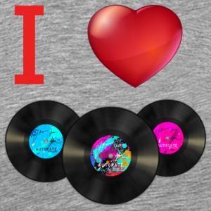 I Love Record Vinyl Music - Men's Premium T-Shirt