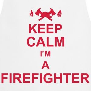 keep_calm_I'm_a_firefighter_g1 Delantales - Delantal de cocina