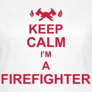 keep_calm_I'm_a_firefighter_g1 Camisetas - Camiseta mujer