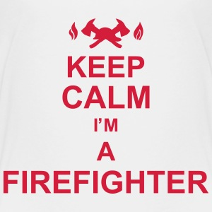 keep_calm_I'm_a_firefighter_g1 Shirts - Teenager Premium T-shirt