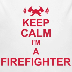 keep_calm_I'm_a_firefighter_g1 Sudaderas - Body orgánico de manga larga para bebé
