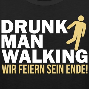 Drunk man walking Tank Tops - Männer Premium Tank Top