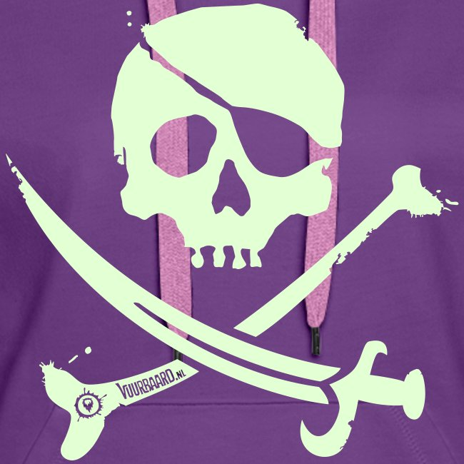 Pirate Crew - Women's Hoodie (White print, glows green in the dark)