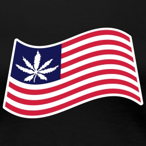 USA Weed Flag T-Shirts - Women's Premium T-Shirt