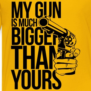 My gun is much bigger than yours Shirts - Teenage Premium T-Shirt