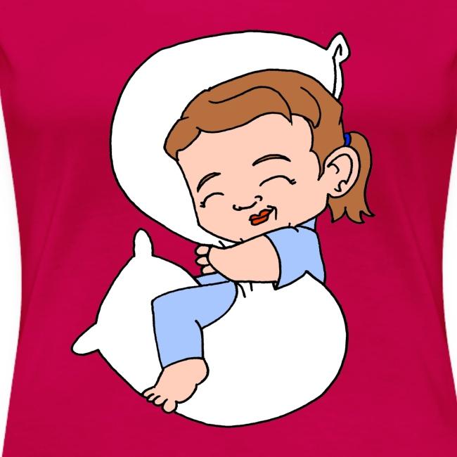 Women's Sleeping Girl Premium T shirt