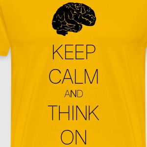 keep calm and think on T-shirts - Herre premium T-shirt