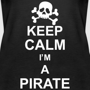 keep_calm_I'm_a_pirate_g1 Top - Canotta premium da donna