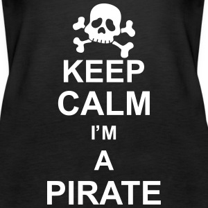 keep_calm_I'm_a_pirate_g1 Tops - Vrouwen Premium tank top