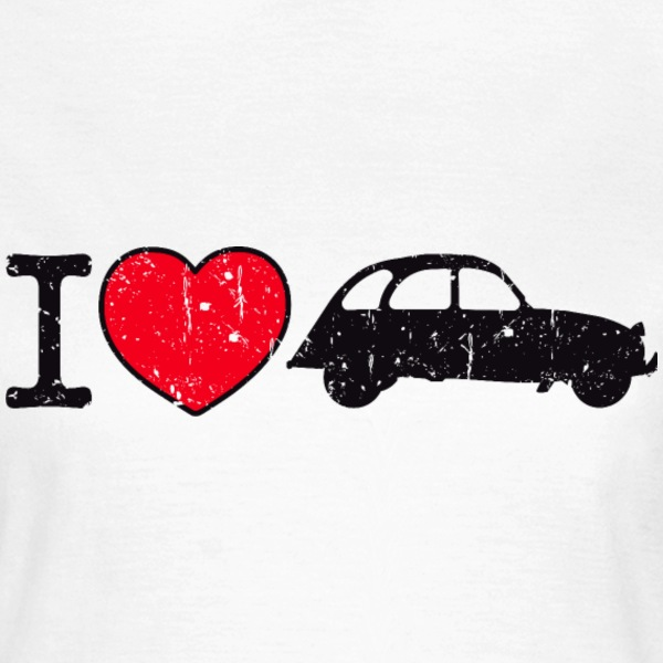 i love my 2CV - Frauen T-Shirt
