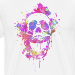 Cool & Trendy Watercolor Skull Tee shirts - T-shirt Premium Homme