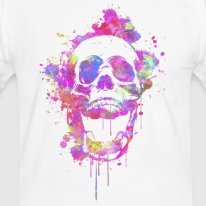 Cool & Trendy Watercolor Skull T-Shirts - Men's Ringer Shirt