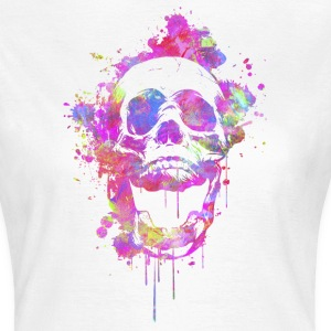 Cool & Trendy Watercolor Skull T-Shirts - Women's T-Shirt