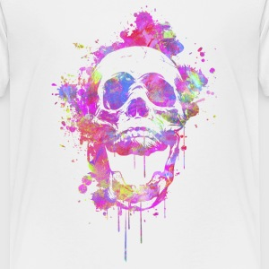 Cool & Trendy Watercolor Skull Shirts - Teenage Premium T-Shirt