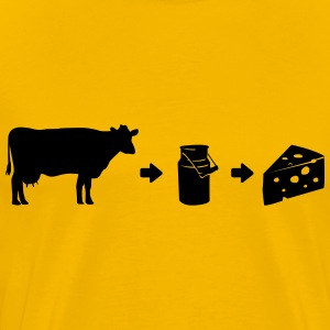 Evolution Milk Cheese Shirt T-Shirts - Men's Premium T-Shirt