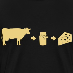 Evolution Milk Cheese Shirt T-shirts - Herre premium T-shirt