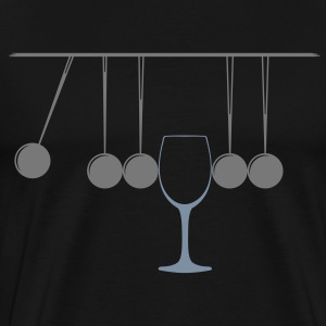 Newtons vugge med glas T-shirts - Herre premium T-shirt