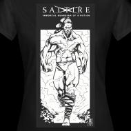 Design ~ Saltire Annihilation B&W Tshirt  Womens