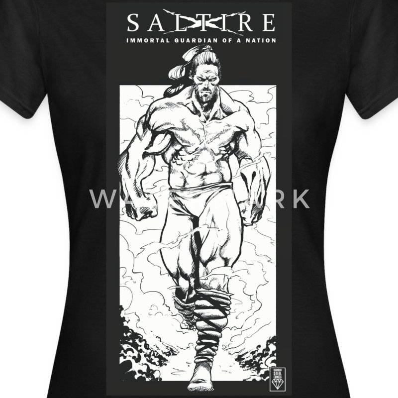 Saltire Scottish Superhero Logo - Women's T-Shirt