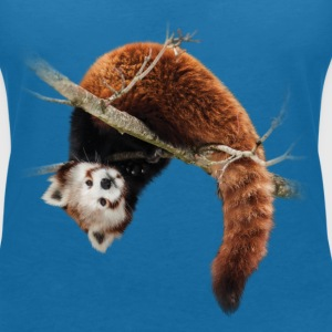 Red panda in the tree T-Shirts - Women's V-Neck T-Shirt