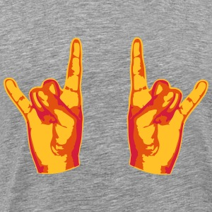2 cool Metal hånd Finger T-shirts - Herre premium T-shirt