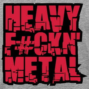 Heavy Fuckin Metal Cool Design T-skjorter - Premium T-skjorte for menn