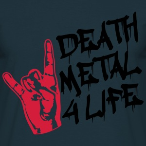 Death Metal 4 Life Design T-shirts - T-shirt herr