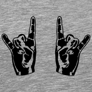 2 Cool Metal hånd finger T-skjorter - Premium T-skjorte for menn